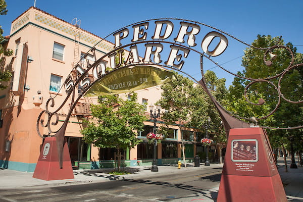 Entrance to San Pedro Square.