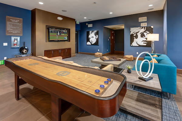 Clubhouse with shuffleboard