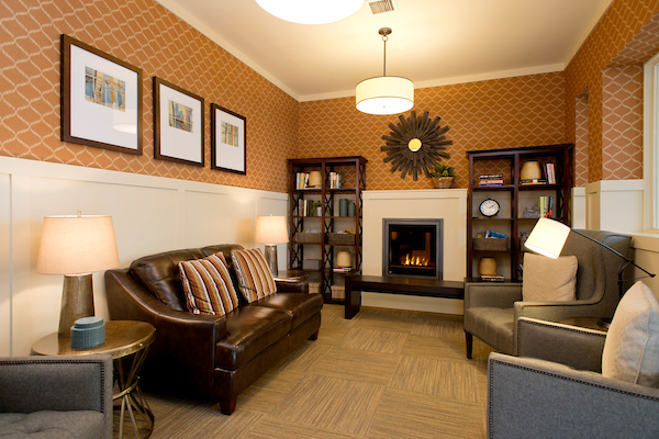 Living Room with Decorated Interior Walls