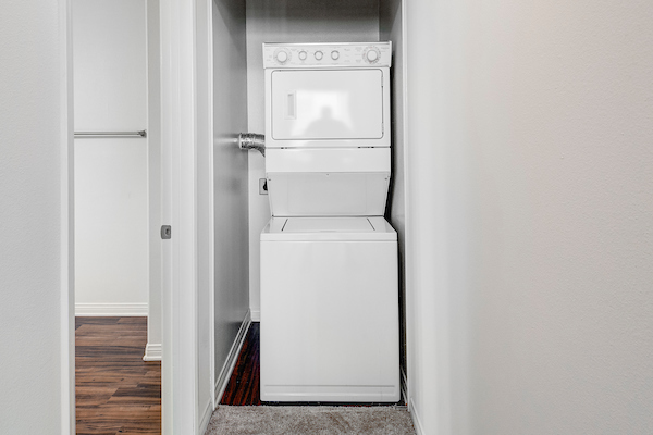In-home washer and dryer unit.