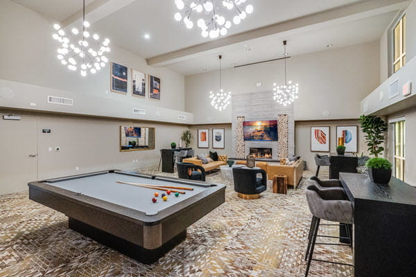 Game room featuring pool table