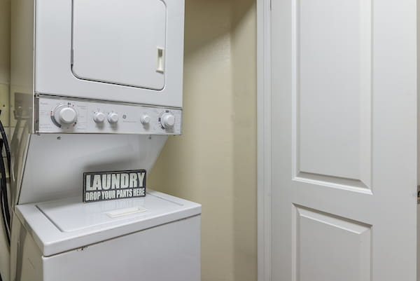 In-home washer and dryer.