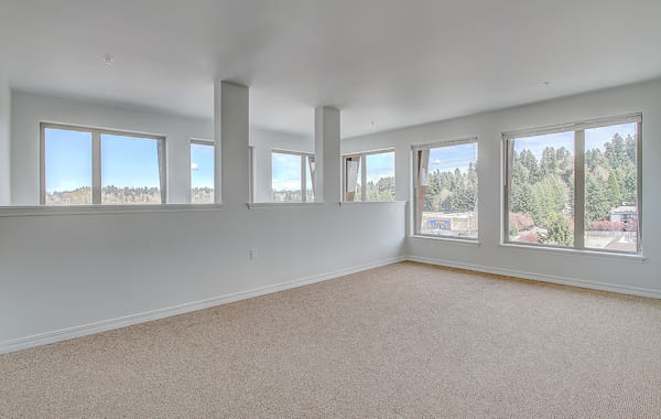 Room with over sized windows