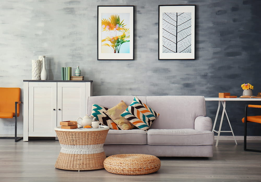Personalize your apartment home with colorful pillows