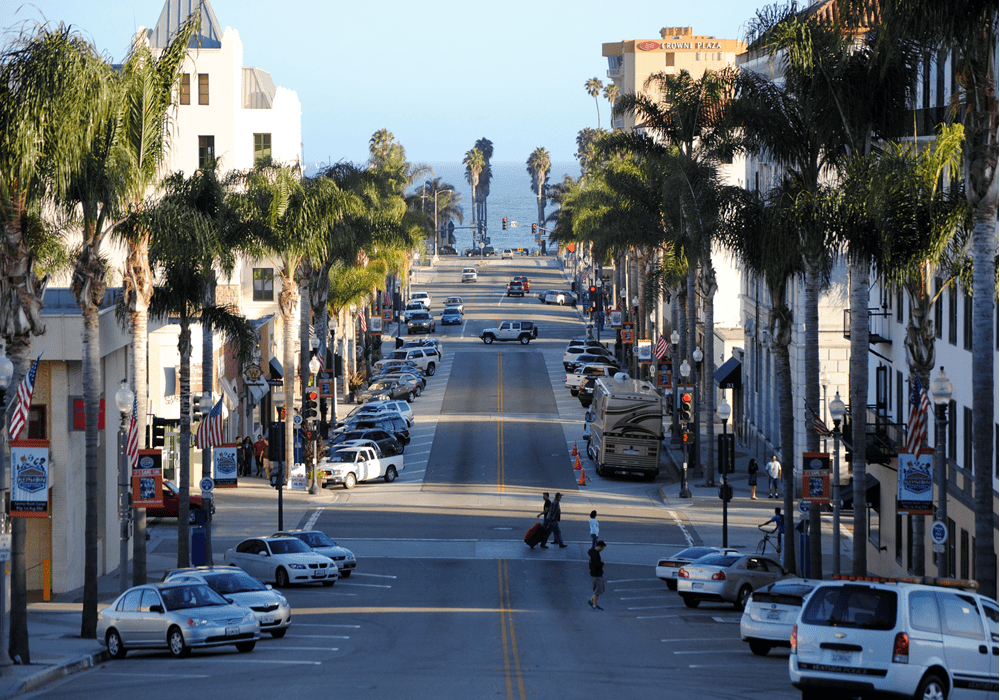 View of a walkable Downtown Ventura featuring easy access to countless boutiques and restaurants.