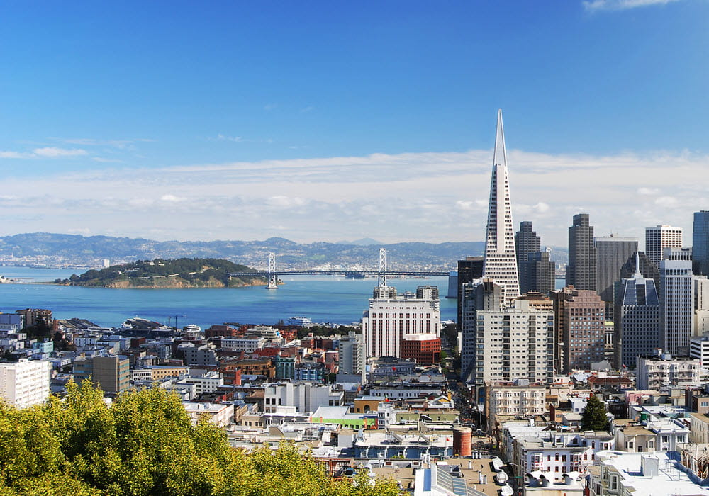 View of San Francisco Bay Area