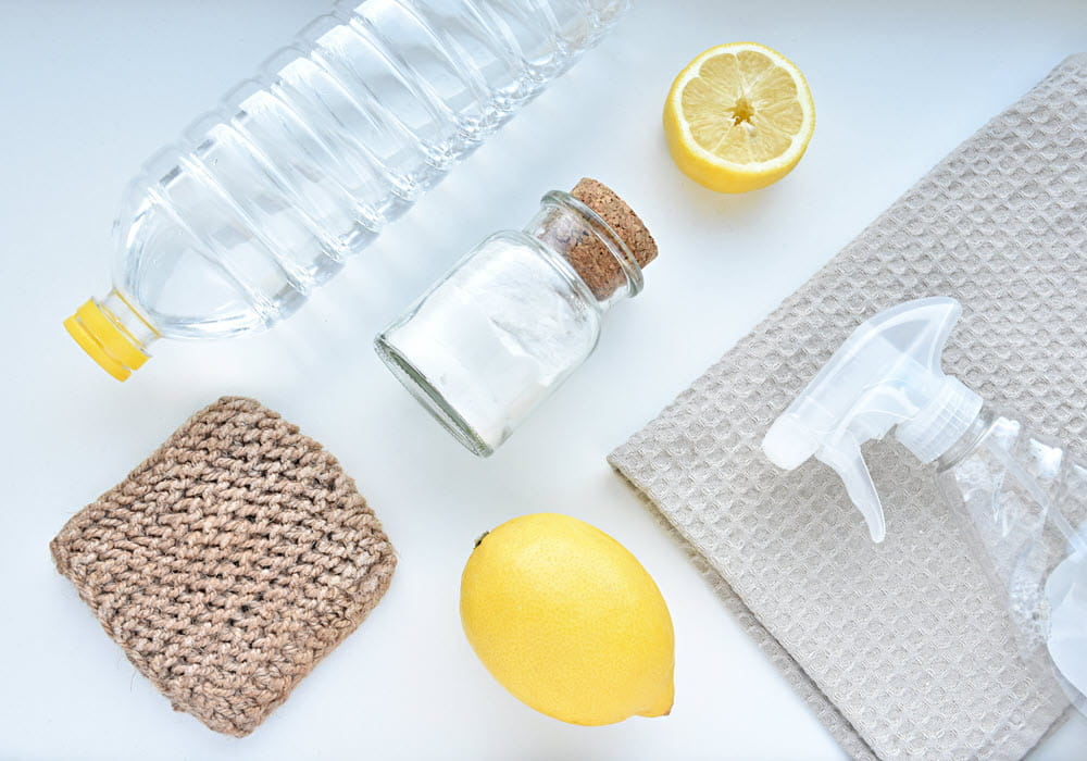 Natural apartment cleaning products.