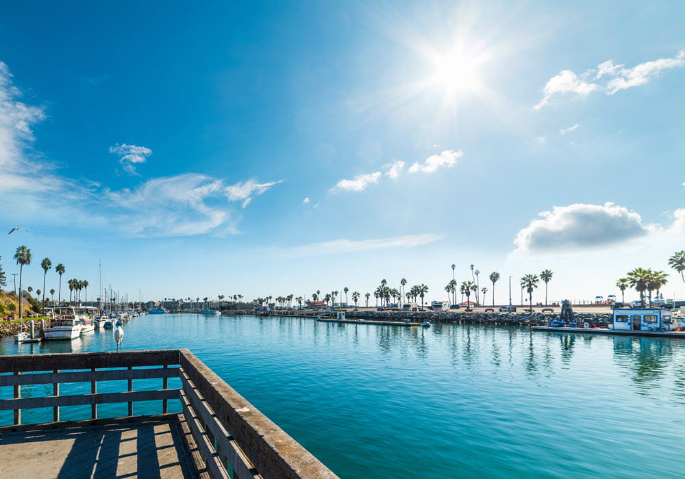 Waterfront view in San Diego.